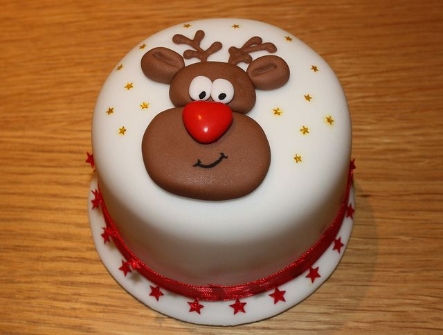 """Rudolph"" mini Xmas cake by Cakes by No More Tiers (York), via Flickr"