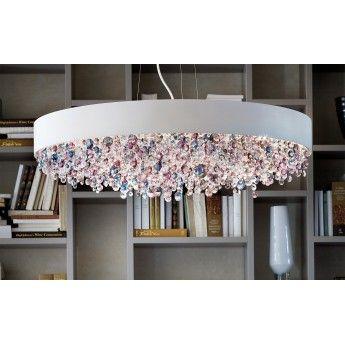 Nowoczesna lampa wisząca z serii Olà #Masiero #lampa_wisząca #lampy_włoskie #oświetlenie #inrerior #salon #nowoczesne_oświetlenie #kryształ #kryształy #cristal #lampy_kraków #abanet #abanet_kraków