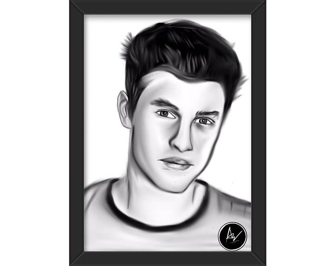 shawn mendes drawing, art prints, poster a4, shawn mendes poster, shawn mendes art, printed poster