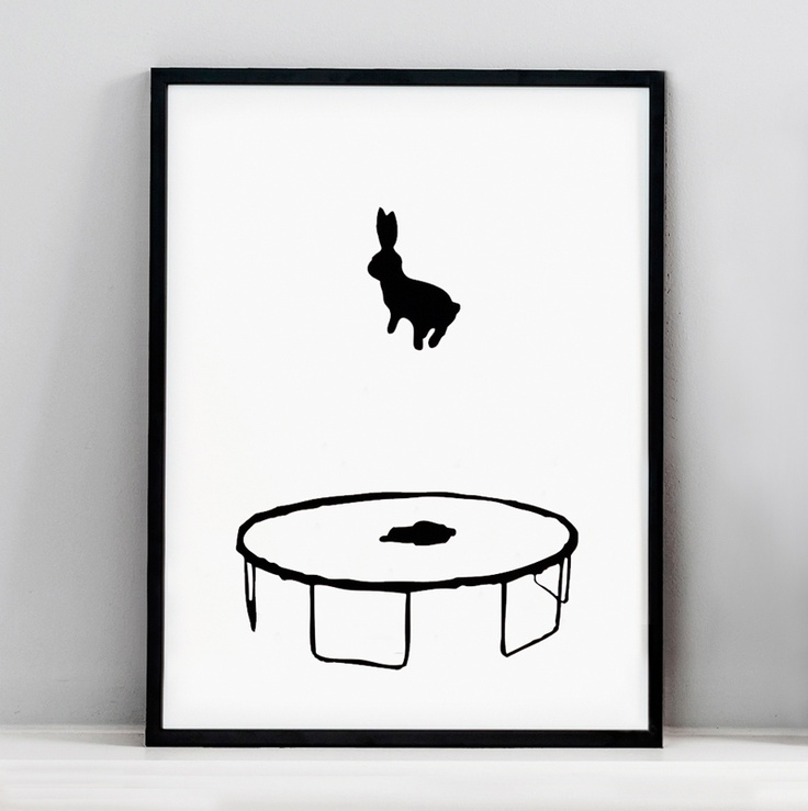 HAM Bouncing Rabbit Print