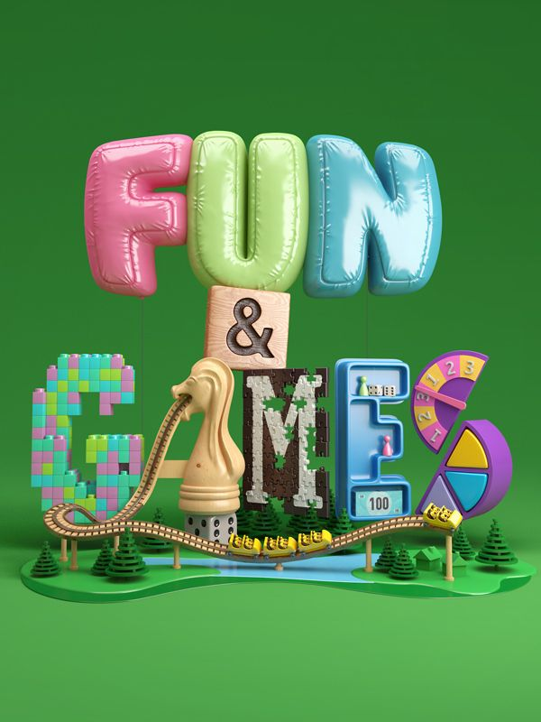 Ones that got away – Proyectos 3D no publicados de Chris Labrooy #3D #lettering