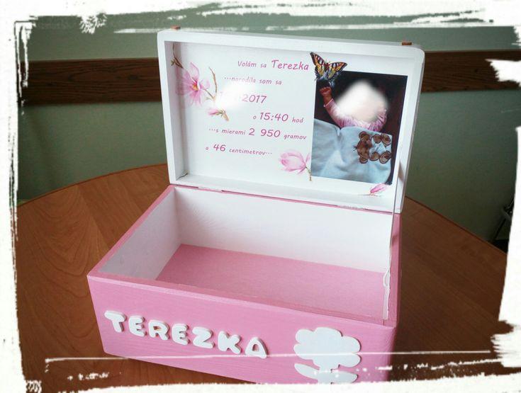 Krabica spomienok ružová 2
