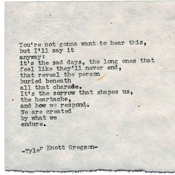 "Tyler Knott Gregson (@tylerknott) on Instagram: ""Typewriter Series #1904"""