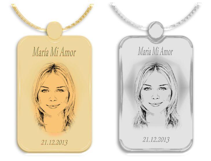 Rostro de ella en medallas de oro y plata