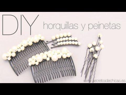 """DIY:Decora tus horquillas y peinetas con perlas """"paso a paso""""  www.secretosdechicas.es"""