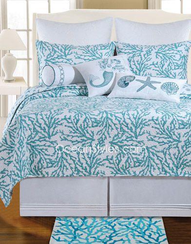 *** Cora Blue Standard Bedding Set   OceanStyles.com
