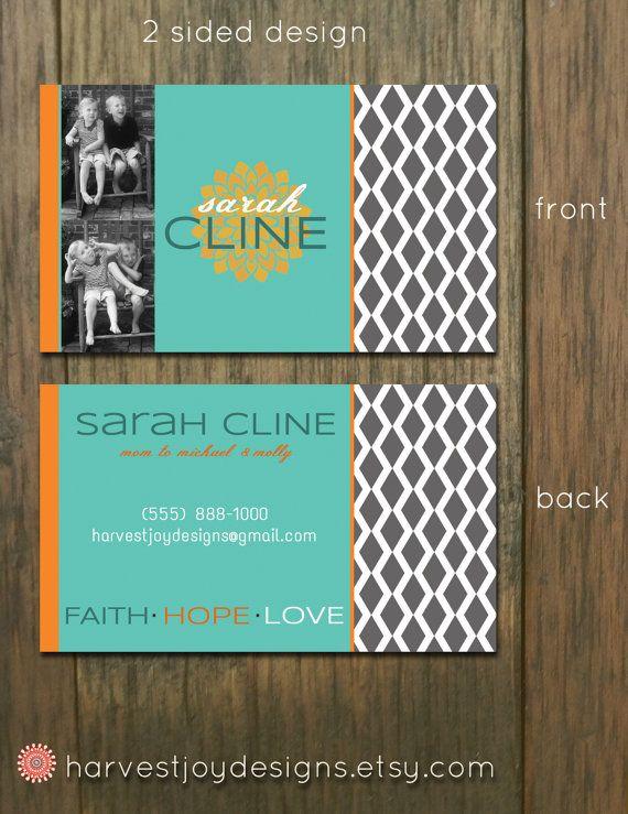 Diamond Lattice - Premade Business Card Design - Faith Hope Love - Personalized Digital DIY Printable Business Card on Etsy, $14.00