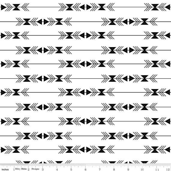 Four Corners Stripe White C4872 - By Simple Simon and Company - Riley Blake Fabric - By the Yard