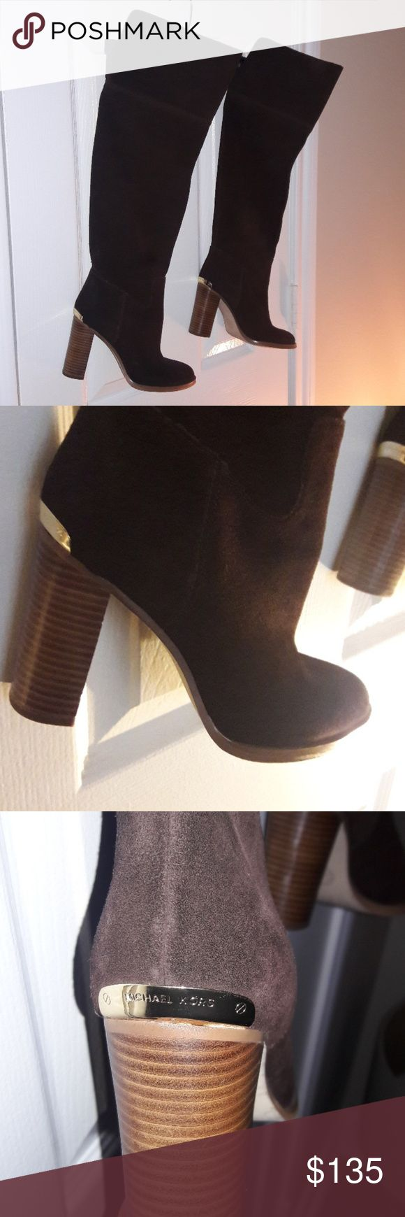 Knee High MK Boots Gently Used Knee High Brown Suede Boots Sz 6.5 (M) Michael Kors Shoes Heeled Boots