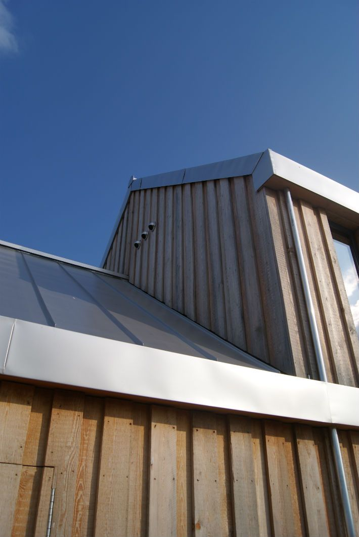 Vertical timber cladding with texture