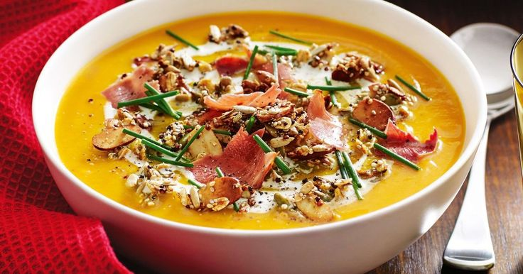 Add crunch to pumpkin soup with this healthy granola topping.