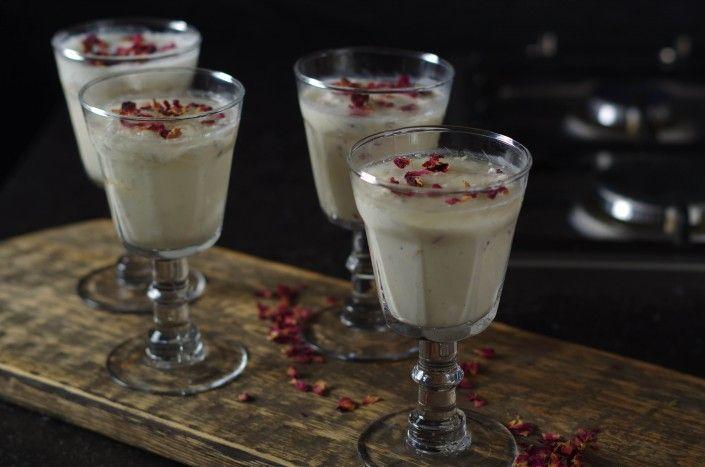 Moederdag tip 1: Rozen panna cotta met bubbel gelei