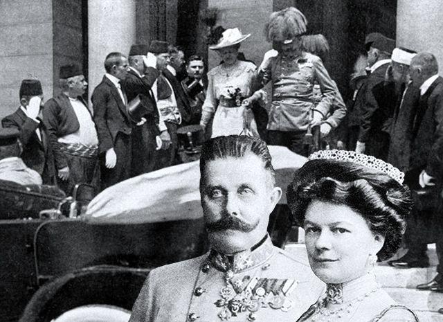 Franz Ferdinand Habsburg, 10 minutes before assasination, Sarajevo