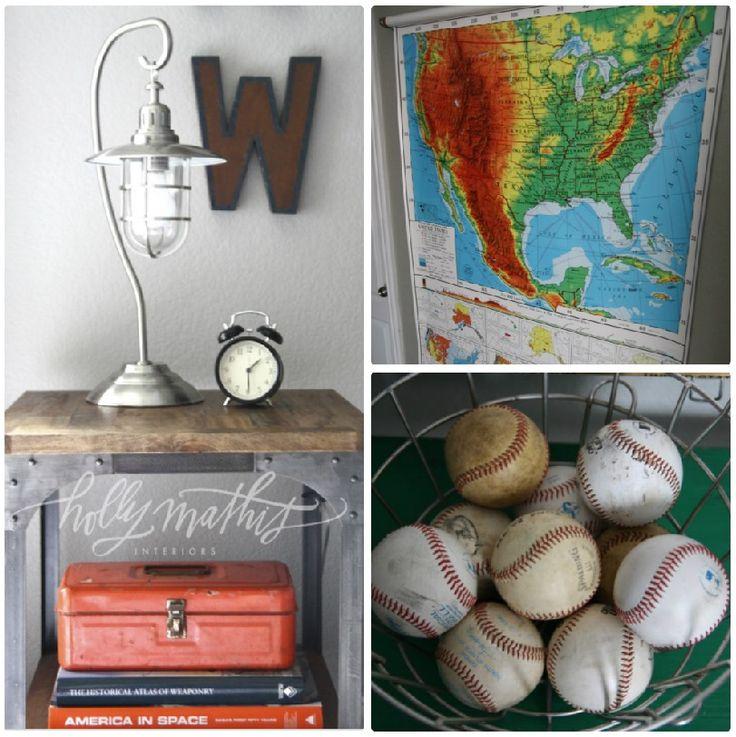 little boy bedroom ideas...love the gray/orange/navy combo. lots more boy room inspiration on her blog, too.