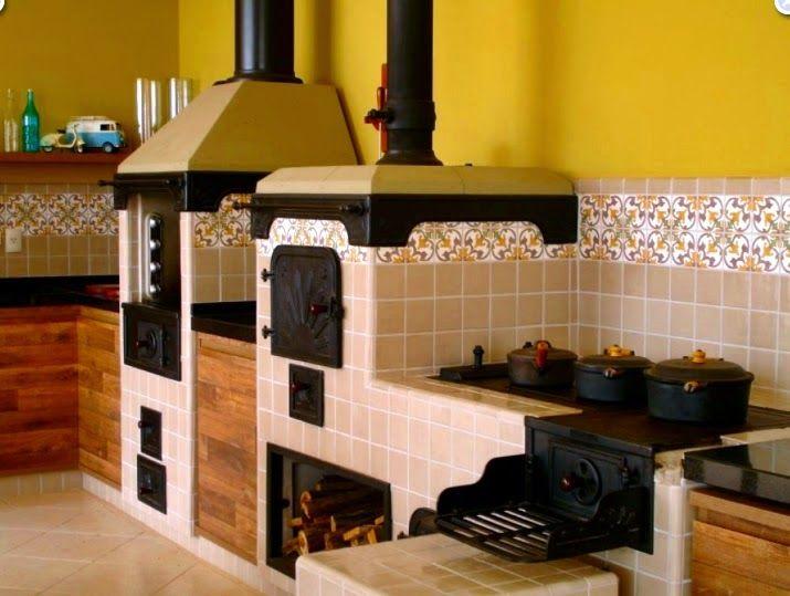Fogão a lenha - veja lindos modelos em cozinhas modernas e caipiras! - Decor Salteado - Blog de Decoração e Arquitetura