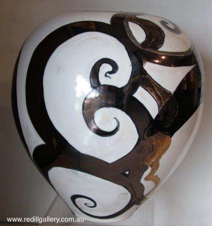 Bruce Clark 'Geometric Vase'. 61 Musgrave Road, Red Hill Brisbane, QLD, Australia. art@redhillgallery.com.au