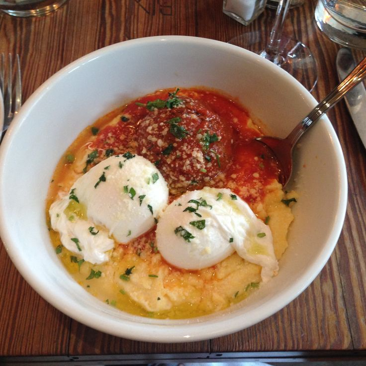 BIN 14  Hoboken  NJ  2 eggs and a meatball with creamy polenta and653 best Restaurants I Like images on Pinterest   Maryland  . Good Restaurants In Hoboken New Jersey. Home Design Ideas