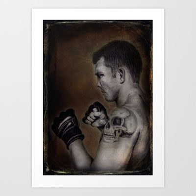 """""""The Boxer""""  Art Print by Magdalena Sky - $20.80"""