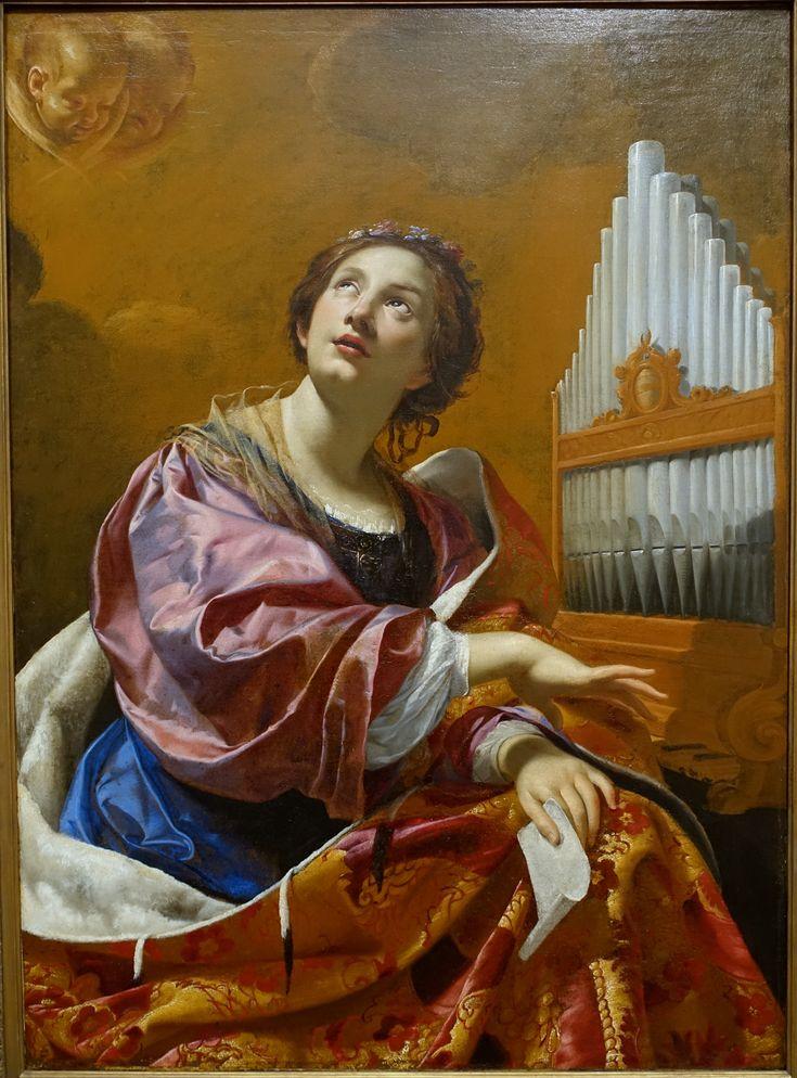 File:Saint Cecilia by Simon Vouet, Rome, c. 1626, oil on canvas - Blanton Museum of Art - Austin, Texas - DSC07868.jpg