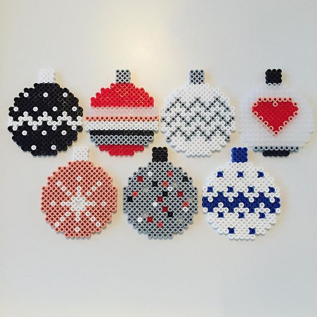 Christmas baubles hama beads by Louise Bradsted