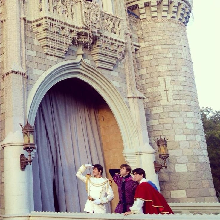 princes looking for their princesses. this is adorable. - over here boys! :)