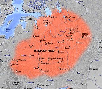 -History- In the 8th-9th centuries 7 tribes joined the leadership of the Norse tribe. By joining together they created the state of Kievan Rus'. A leader was then established, Volodymyr I (980-1015). The state was demolished in the 12th and 13th century by the Mongols.