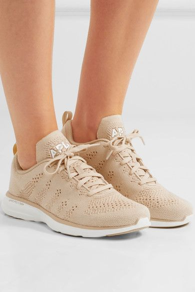 Athletic Propulsion Labs - Techloom Pro Cashmere-blend Mesh Sneakers - Beige - US