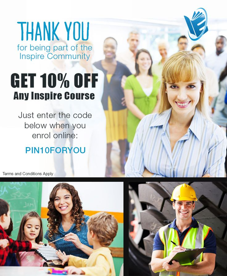 To thank you all for being such an amazing community, until the 16th April 2015 we would like to help kick start your course with a 10% Off coupon to use on ANY Inspire qualification. Just enter the code PIN10FORYOU when you enrol in your course online. Simple as that!  Which course will you start?  View the T&Cs here: http://bit.ly/18uR4uT