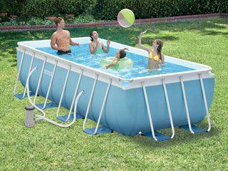 Image Kit piscine tubulaire Intex PRISM FRAME rectangulaire 488 x 244 x 107cm filtration cartouche