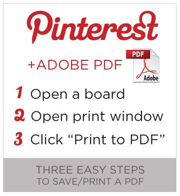 Printing Pinterest Steps