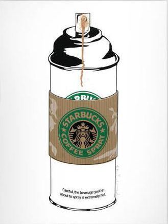 Mr. Brainwash: Coffee Spray Starbucks