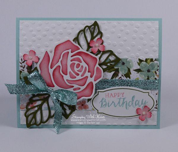 Stampin Up Rose Garden card by Kristi @ www.stampingwithkristi.com