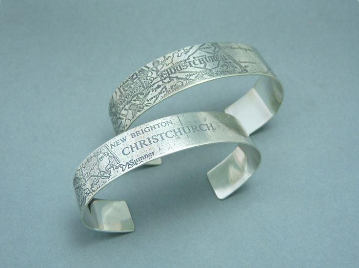 Silver bangle cuff | Felt