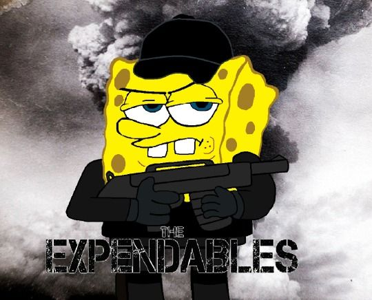 Tumblr spongebob squarepants the expendables bob esponja los indestructibles nickelodeon movie action jet li cartoons