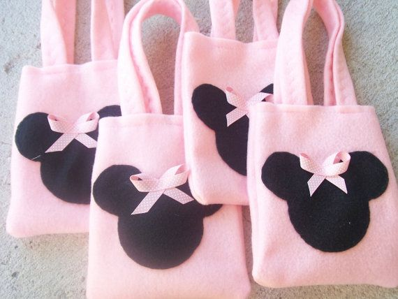 Minnie Mouse Party   Set of 6 Party bags by BellisimaSofia on Etsy, $18.00