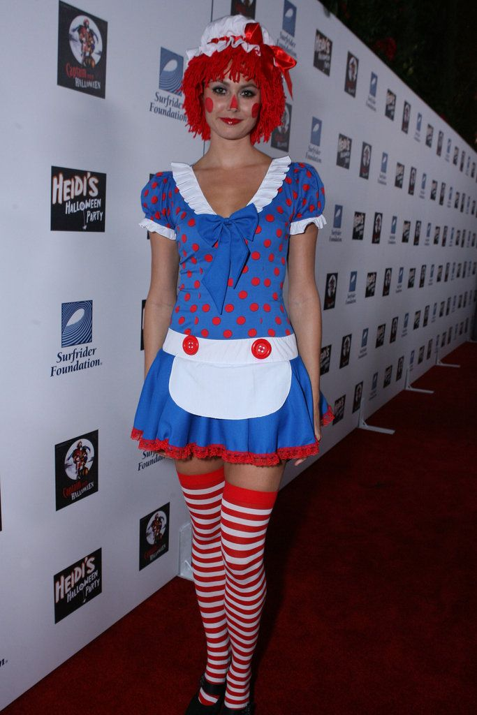 Stacy Keibler went to an LA party as Raggedy Ann .