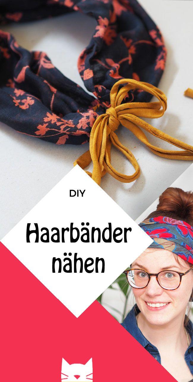 DIY: Upcycling: Vom Tuch zum Haarband. Nähanleitung für Anfänger.