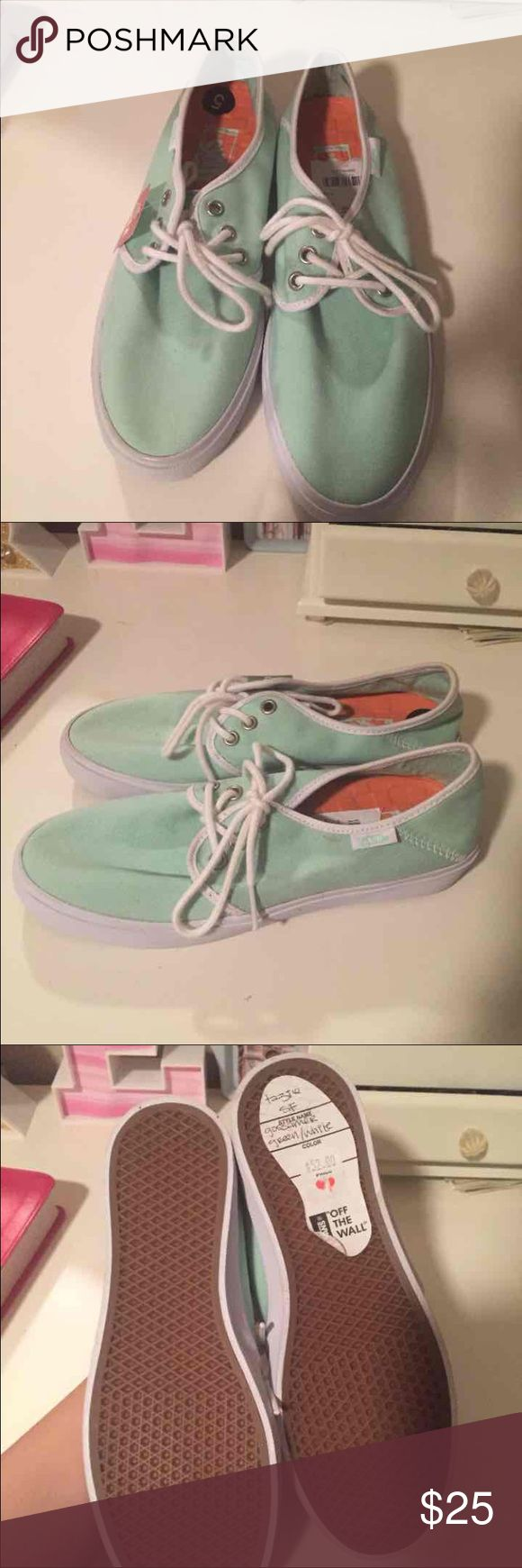NWT Mint Vans Shoes NEW never worn. Just a bit dusty from being stored. Originally $52. Vans Shoes Sneakers
