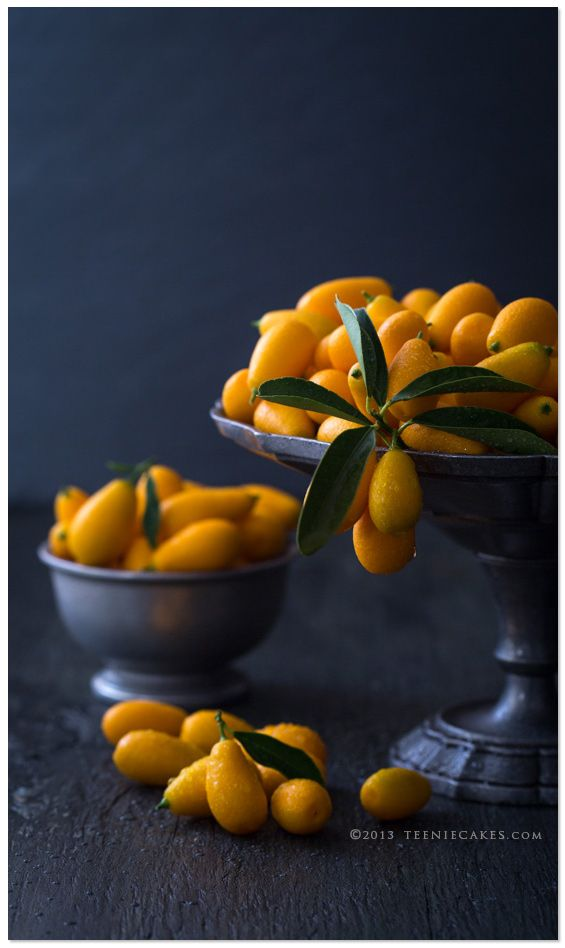 Nagami Kumquats in Pewter Dishes | Cristina A-Moore Photography for TeenieCakes.com