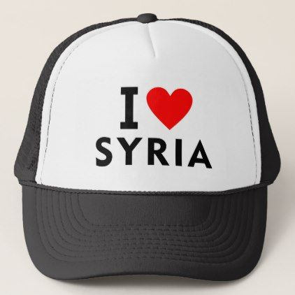 #I love Syria country like heart travel tourism Trucker Hat - #country gifts style diy gift ideas
