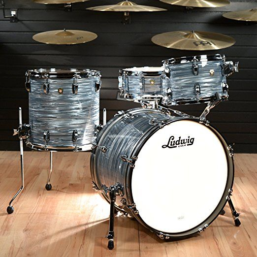 Ludwig 12 14 20 Classic Maple 3pc Kit Vintage Blue Oyster W Free 5x14 Snare Drum Used Sets Cheap Kits Roland Drums Junior Set Yamaha