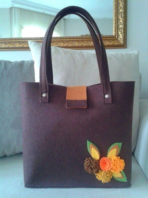 Keçe çanta -felt bag