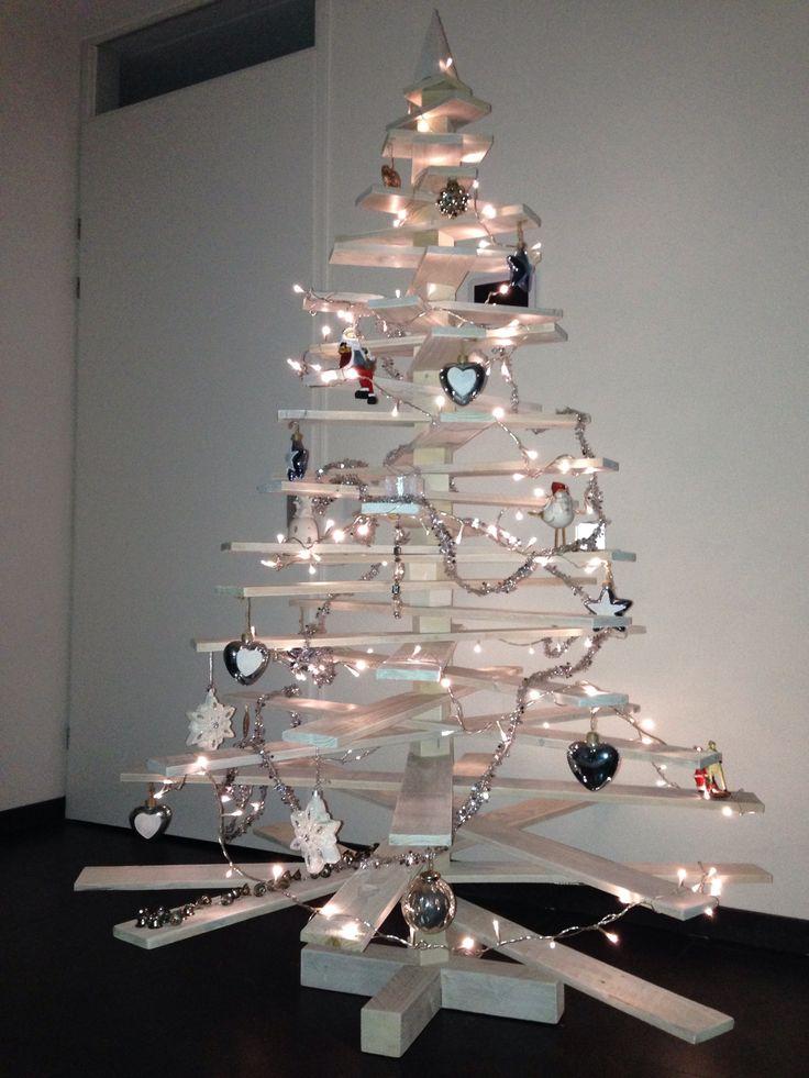 White wash houten kerstboom
