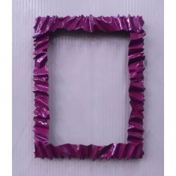 Frame design Wrought Iron for Mirror or Photo. 110 x 85 cm. with LED on 8 sides. Color Violet Bordeaux. 850