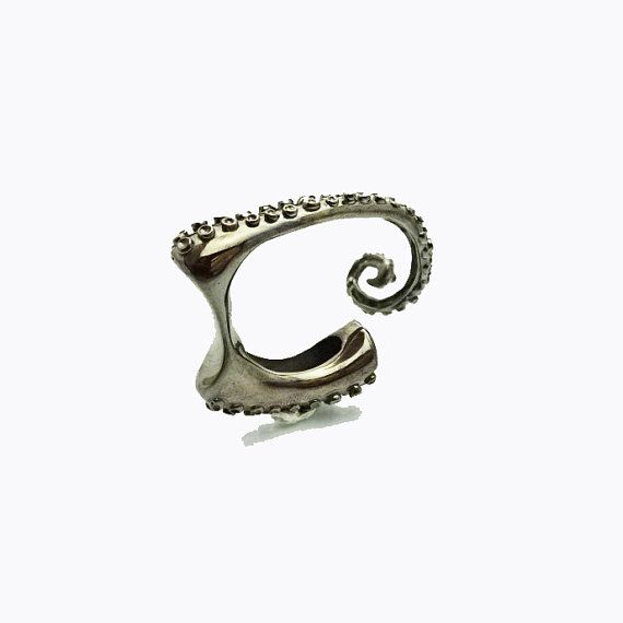 Octopus Ring  Sea Creature  Steam Punk  Black by arwcreation