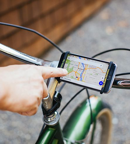 Leather Bicycle Phone Holder | Enjoy some tunes or use voice-guided navigation on two wheels ... | Bicycle Accessories