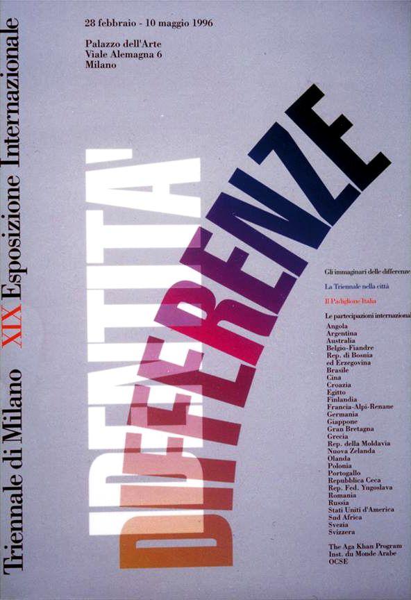 XIX Esposizione Internazionale della Triennale di Milano, 1996; Graphic Design by di Bob Noorda