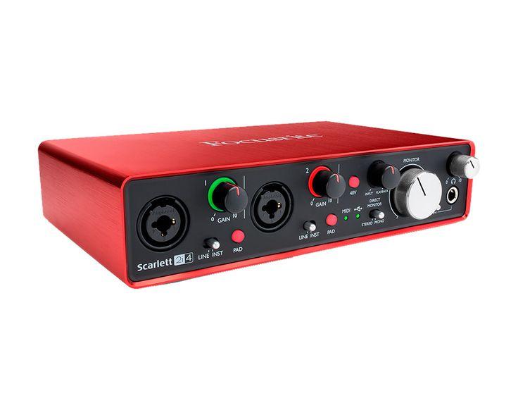 Interface audio 2 entrées 4 sorties, la seconde génération d'interfaces audio USB 2.0, avec 2 préamplis combos Scarlett, encodage 24-bits/192kHz, alimentée par l'USB. Livrée avec Pro Tools First et Ableton Live Lite et sa suite de plug-ins, compatible Mac et PC. Améliorations apportées : faible latence permettant d'enregistrer et de mixer en temps réel vos plug-ins, taux d 'échantillonnage allant jusqu'à 192kHz, contrôle total et précis sur le gain, l'entrée instrument a été complète...