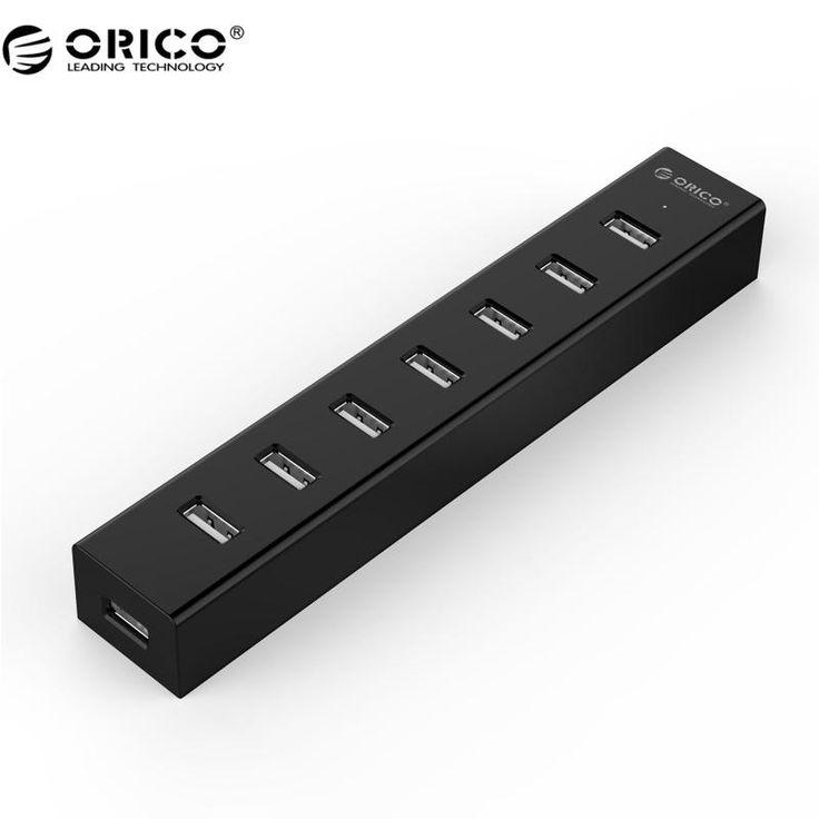 [Visit to Buy] ORICO USB HUB 7 Port USB 2.0 HUB for Windows XP / Vista / 7 / 8 / 10 / Linux / Mac OS #Advertisement