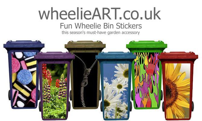 Wheelie Bin Stickers Wheelie Bin Stickers Trash Art